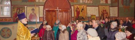 Престольный праздник в Знаменском храме